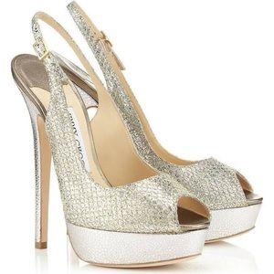 Jimmy Choo Champagne Vita Sandals